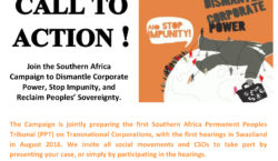 Call to Action For the Economic, Political, Cultural and Environmental Sovereignty of Our Peoples End the Impunity of Transnational Corporations NOW!... Read More