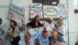 Save our Water demonstration in upmarket Cape Town Restaurant