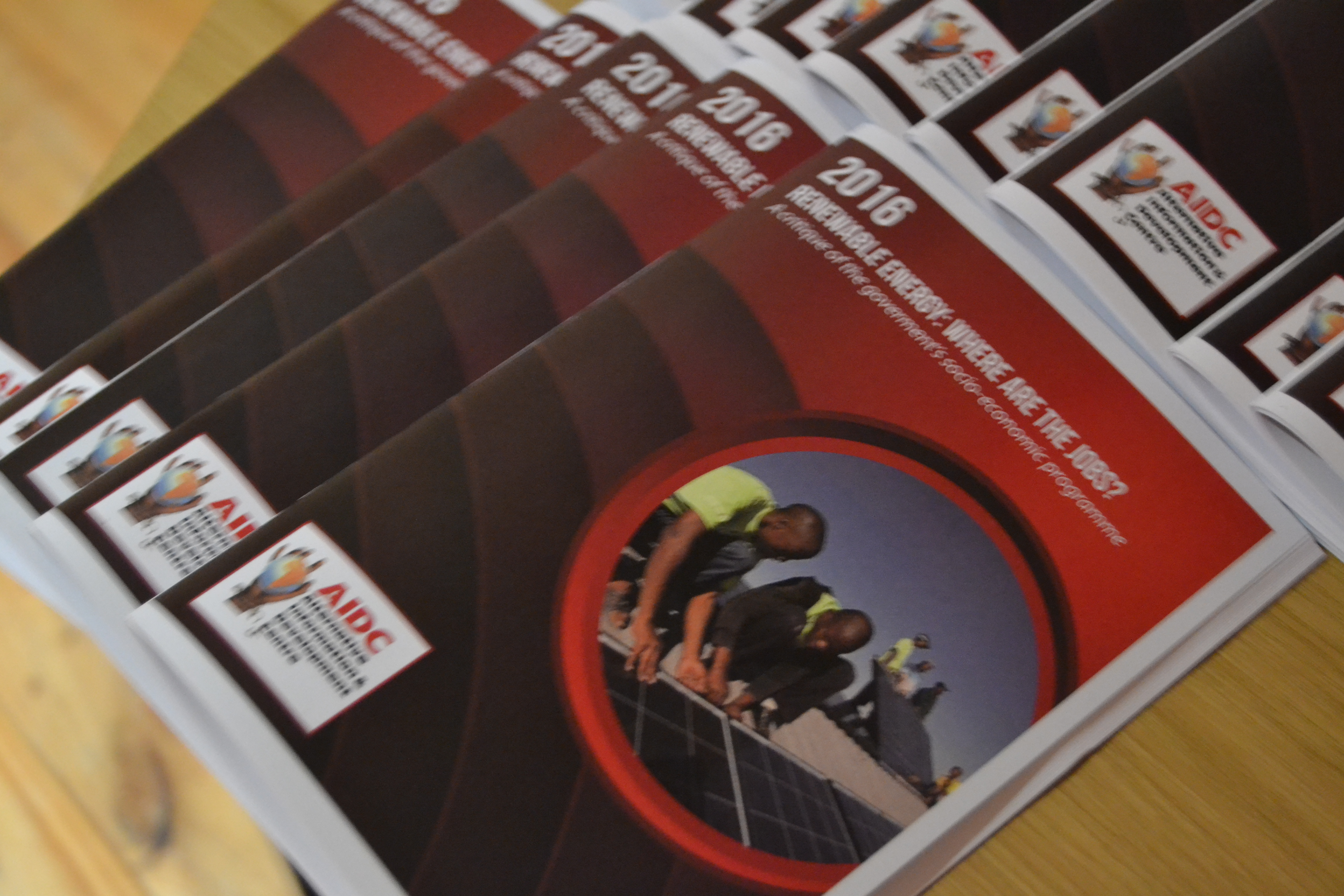 Media Package: Renewable Energy – Where are the jobs? AIDC has commissioned research on this topic to Liz McDaid (The Green Connection). The results are now available as a booklet.  See more