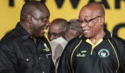 Cyril Ramaphosa and Jacob Zuma. (Madelene Cronjé)