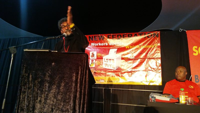 1. Former Cosatu General Secretary, Jay Naidoo, addressing the launching congress of SAFTU