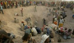 Artisanal miners at work in the Marange Diamond Fields
