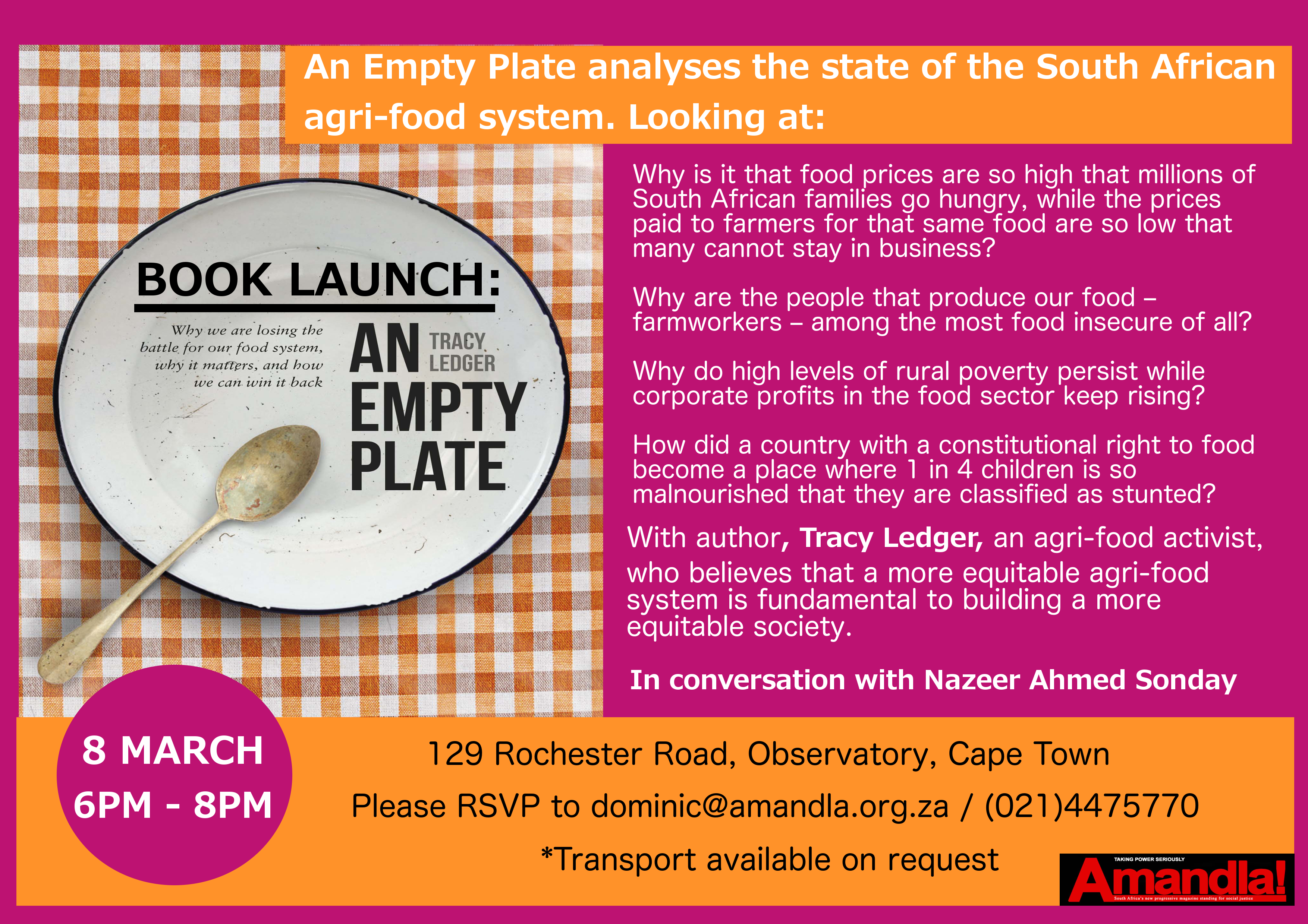book launch empty plate1