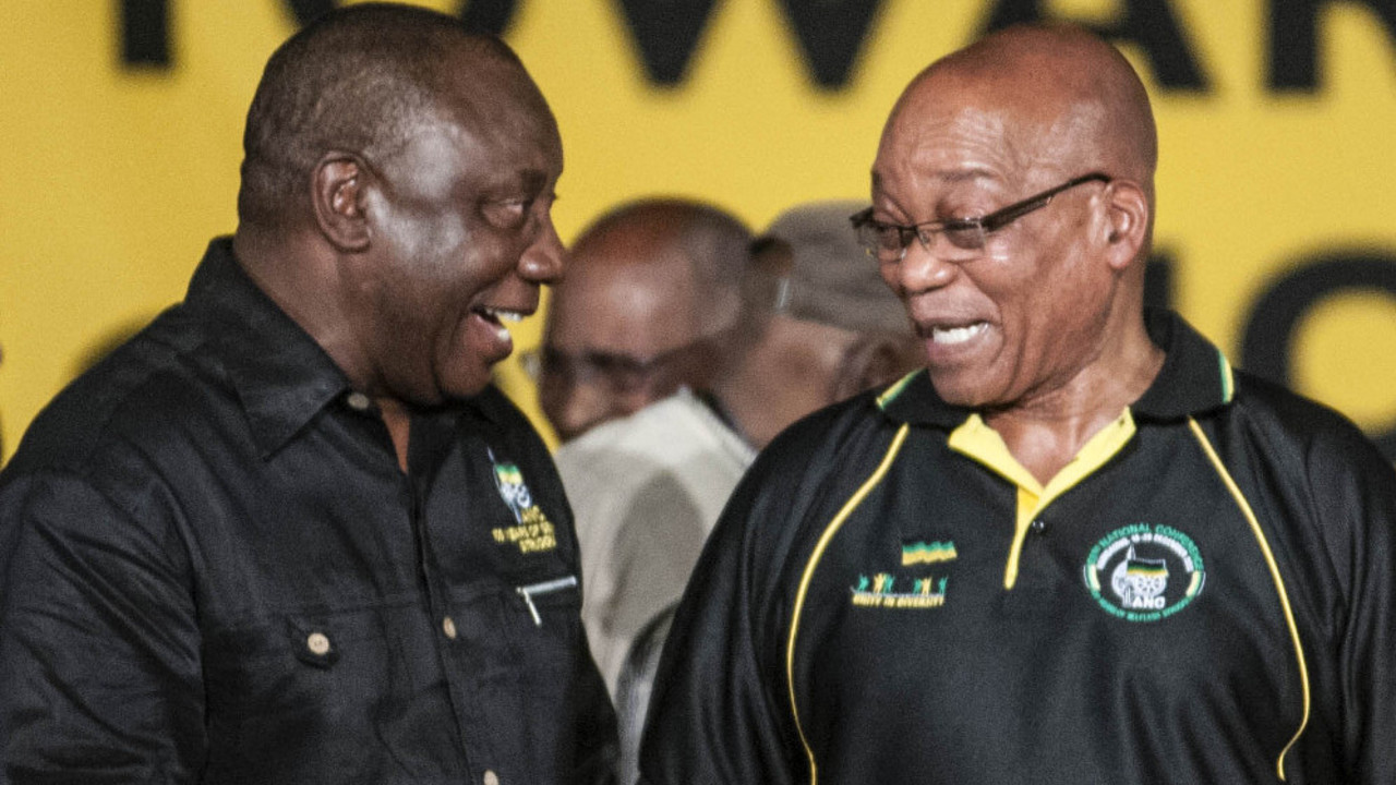 Cyril Ramaphosa and Jacob Zuma. (Madelene Cronjé)