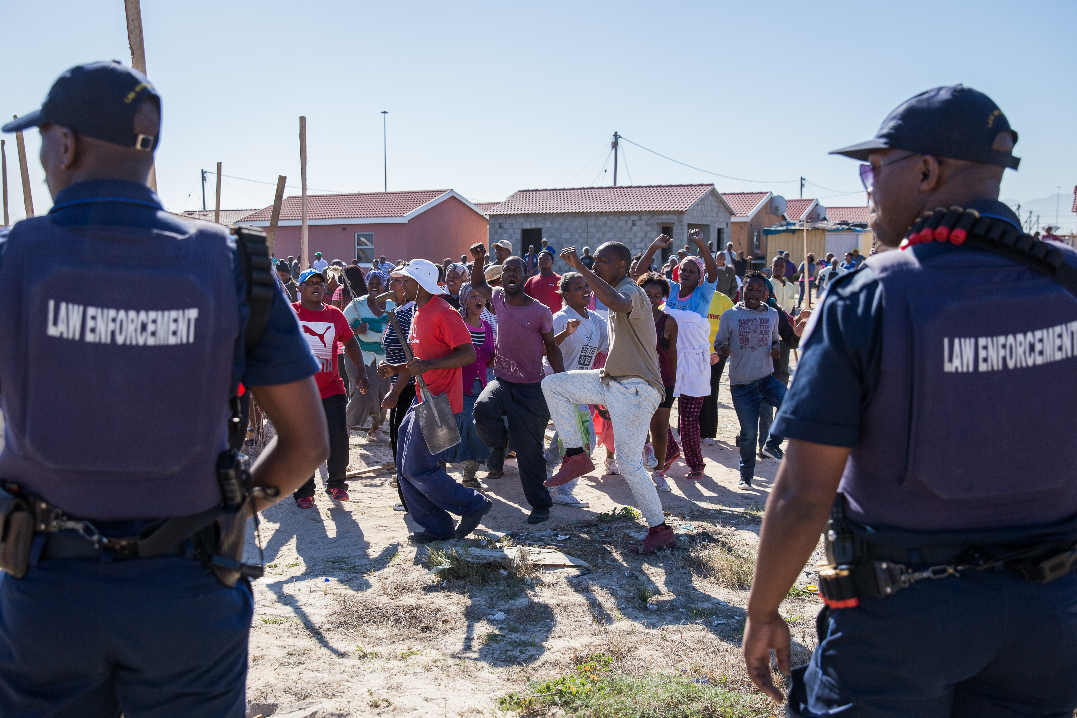 Residents in Town 2 occupy land in Khayelitsha