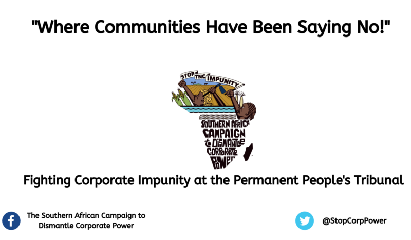 A Documentary on struggles against corporate impunity in Southern Africa